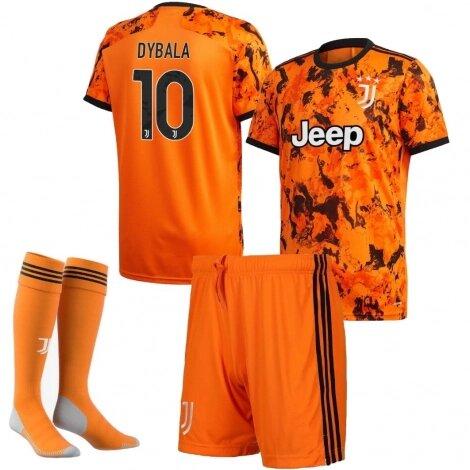 Детская форма Ювентус резервная номер 10 Дибала сезон 2020-2021 (футболка + шорты + гетры)